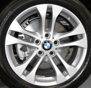 04-10 BMW X3 3.0 SI 18x8 Thin Flared Double 5 Spoke SILVER - STYLE 205