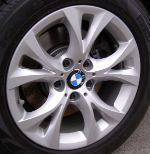 04-10 BMW X3 XDRIVE30I 17x8 Flared Angular 5 V-Spoke SILVER - ST 279