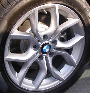 11-17 BMW X3 35I 17x7.5 Angular Contoured 5 U-Spoke SILVER STYLE 305