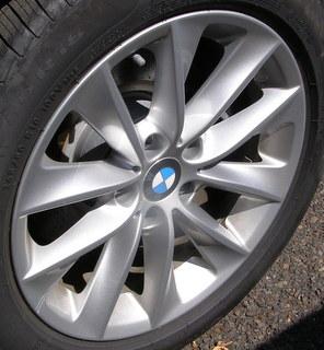 11-17 BMW X3 XDRIVE 28I 18x8 Angular Contoured 5 V-Spoke B SILVER ST 307