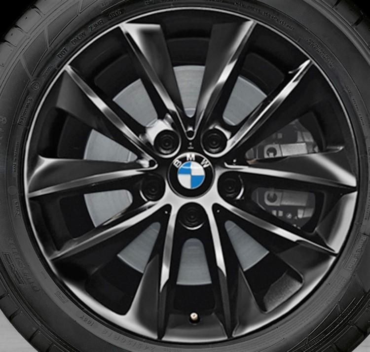 11-17 BMW X3 XDRIVE 28I 18x8 Angular Contoured 5 V-Spoke A BLACK ST 307