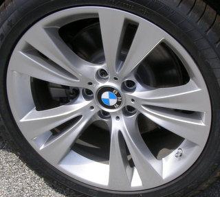 11-17 BMW X3 XDRIVE35I 19x9.5 Angular Contoured 5 V-Spoke SILVER REAR STYLE 309