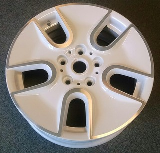 13-15 COOPER PACEMAN 17x7 Wide Flared 5 Spk, Raised Edges A WHITE ST 125