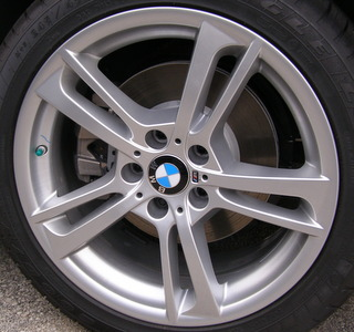 11-17 BMW X3 XDRIVE28I/35I 19x8.5 Twisted Carved Double 5 Spoke SILVER FRONT ST 369