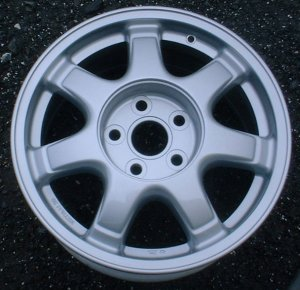 93-97 LEXUS GS300 16x7.5 Thin 7 Spoke w Covered Lugs SILVER