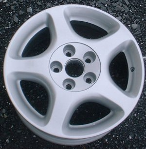 98-00 LEXUS GS300/GS400 16x7.5 Thin Flat 5 Spoke B FULL SILVER