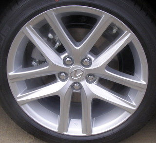 14-17 LEXUS CT200H FSPORT 17x7 Angular 5 Y-Spoke AA US SILVER