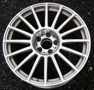08-09 MERCEDES CLK63 AMG 19x9.5 AMG Flat Thin 16 Spoke 209 CH - POLISH REAR