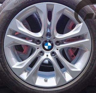 15-17 BMW X3 18x8 Angular Flared 5 V-Spk, Hole in V SILVER, STYLE 605