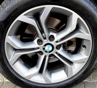 15-17 BMW X3 18x8 Flat Flared 5 Y-Spoke MACH/GREY ST 607