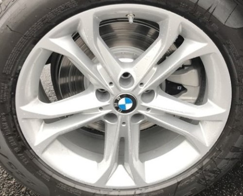 18-20 BMW X3 XDRIVE30I 18x7 Angular Flared 5 V-Spk, Hole Between V's SILVER STYLE 688