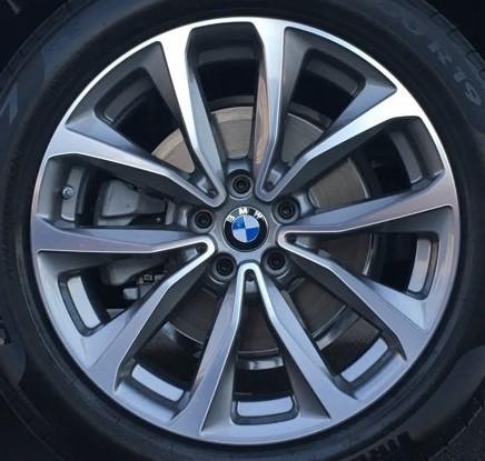 18-20 BMW X3 XDRIVE30I 19x7.5 5 V-Spoke w Contoured Ledge MACH/GREY ST 692