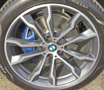 18-19 BMW X3 M40I 20x8 Double 5 Spoke, Flared Ends MACH/GREY FRONT ST 699M